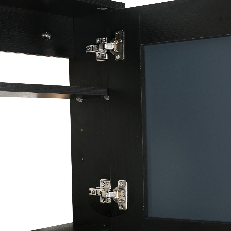 Eclife 22'' x 28'' Large Storage Bathroom Medicine Cabinet Organizer Mirror Storage Wood Adjustable Wall Mounted Mirror Cabinet Black C01 by Eclife (Image #7)