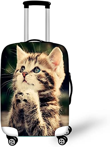 Suitcase Not included Suitcase Luggage Cases Spandex Stretch Protector Dust-Proof fit 18-32 Meijunter Trolley Cover
