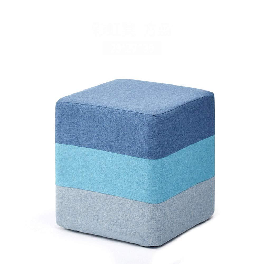 ZKKM Sgabello quadrato divano in tessuto sgabello in legno massello sgabello moda sgabello scarpa panca casa piccola panca molo spazio efficace utilizzare cotone di alta qualit/à e materiale in lino fo
