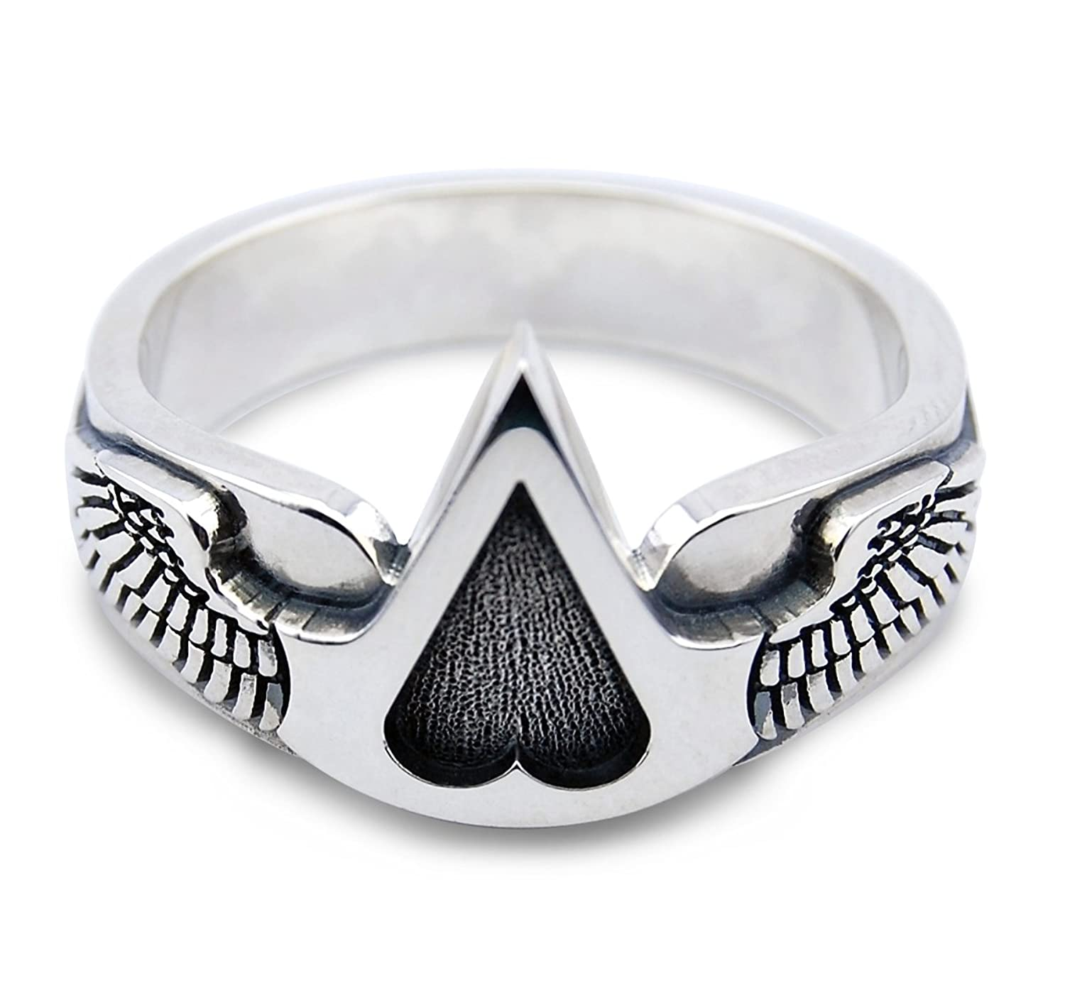 Deluxe Adult Costumes - Assassin's Creed Sterling Silver Winged Logo Ring