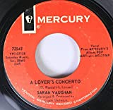 Sarah Vaughan 45 RPM A Lover's Concerto / First Thing Every Morning