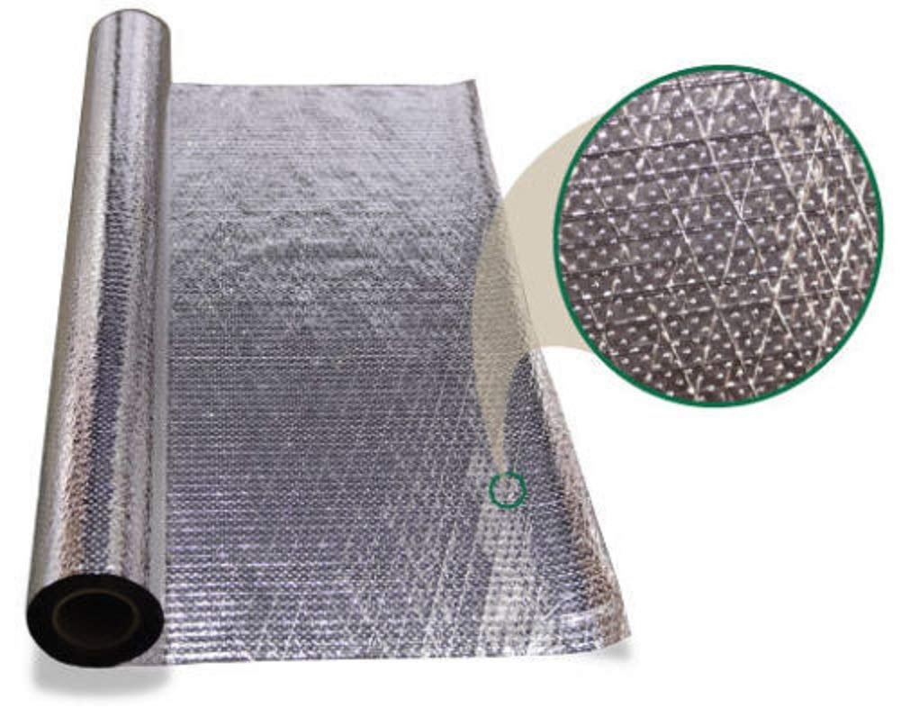1000 sqft Radiant Barrier Double Sided Diamond Series Perforated Attic Foil Insulation 48'' X 250' Reinforced Scrim .22mm Thickness. by US Energy Products