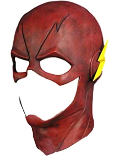 Amazon com: The Flash Mask with Cowl Costume Accessory: Clothing