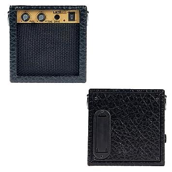 Sharplace Altavoz Amplificador de Guitarra Mini 3W Soportes Accesorios para Bajos - Negro, tal como se describe: Amazon.es: Instrumentos musicales