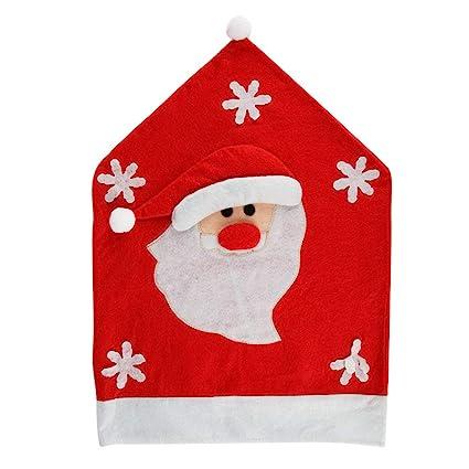 Gespout Navidad Decoración Silla Cubierta Elástica Tapa Silla Comedor Lavable Poliéster Sillas Protección Fundas para Cocina