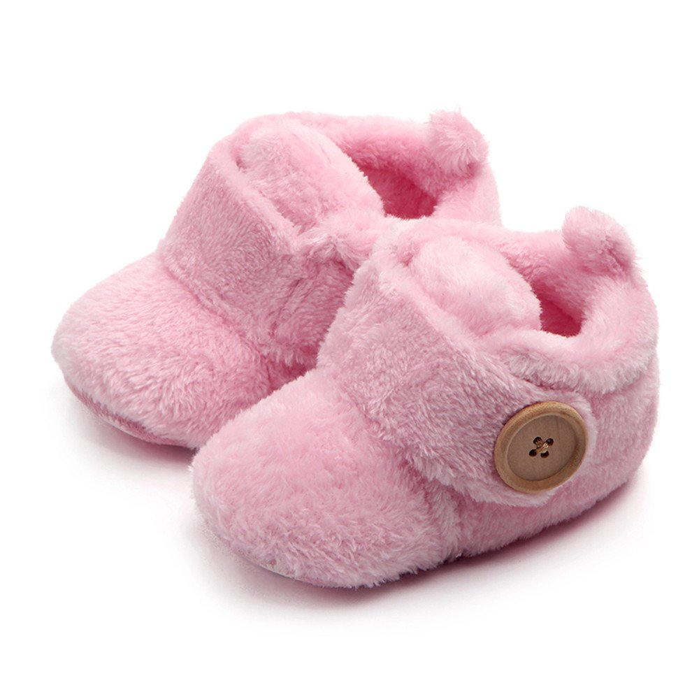 Celiy Lovely Toddler First Walkers Baby Shoes Round Toe Flats Soft Slippers Shoes