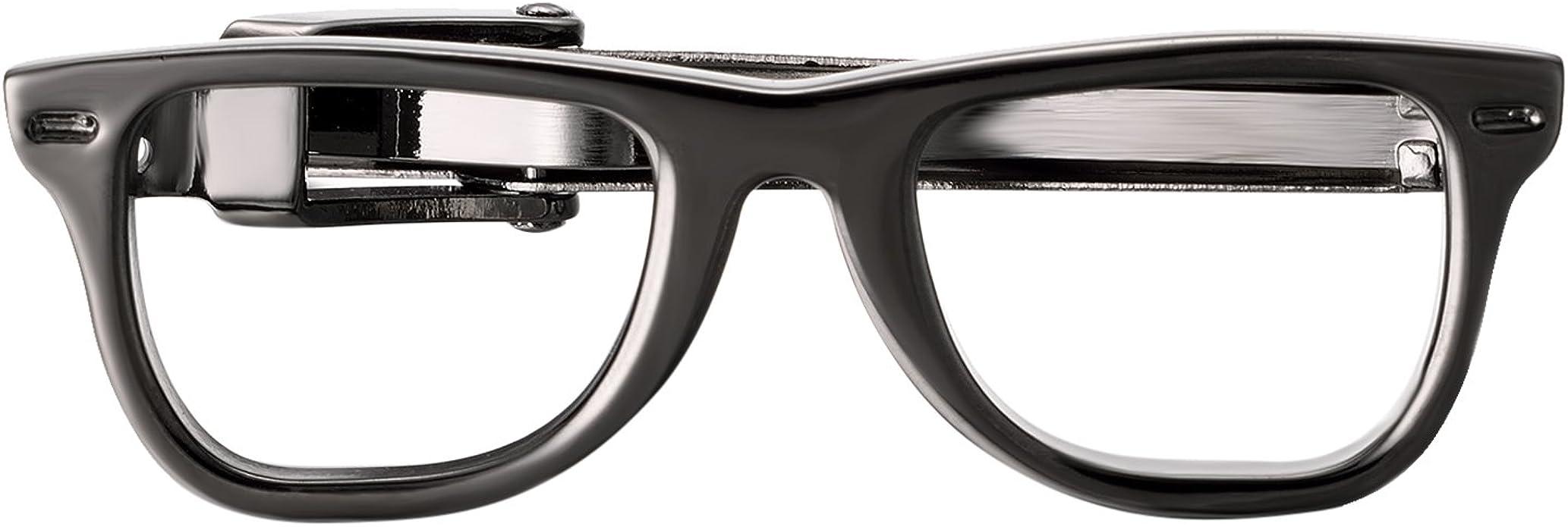Fashion Collocation Classic Tie Clip Silver Tie Clip Glasses Tie Clip Novelty Accessories Gift For Man