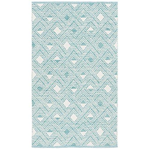 Safavieh Montauk Collection MTK614H Aqua Blue and Ivory Area Rug (3