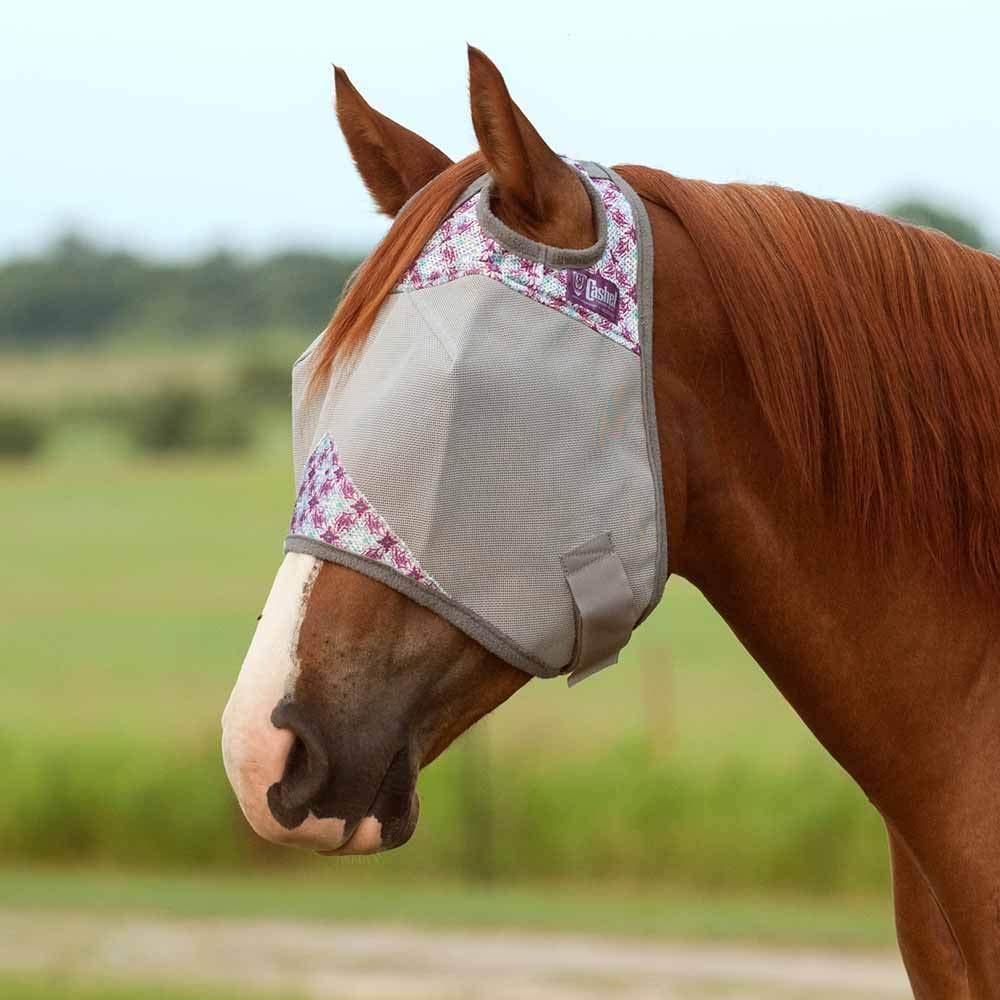 Cashel Company Patterned Crusader Fly Mask Plumflash Horse