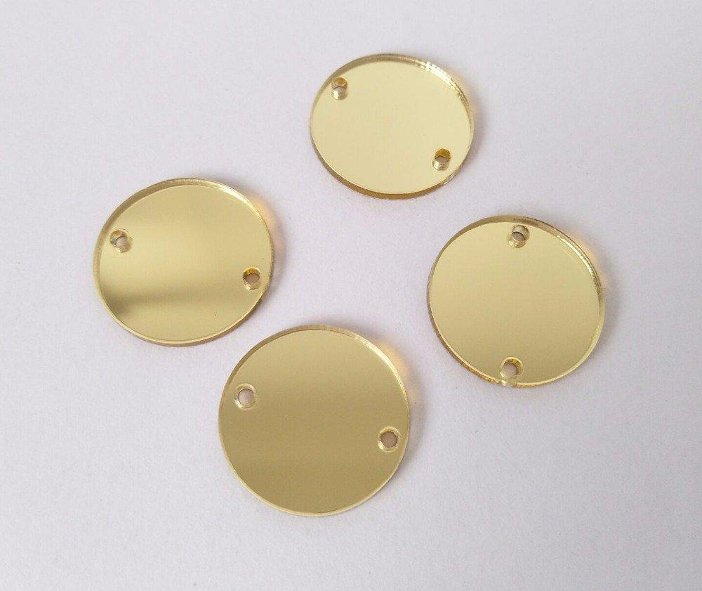 Robe de soir/ée Strass Miroir pour d/éguisement v/êtement Accessoire de d/écoration MEYA Perles de Miroir Rondes /à Coudre