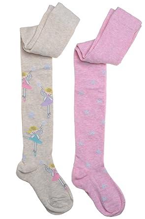 3380118e9de18 2 pairs of Fairy & Stars Designs Girls tights: Amazon.co.uk: Clothing