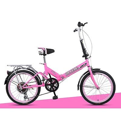 2f42b51eda0789 XQ- Vélo pliant XQ-TT-623 20 pouces rose 6 vitesses [6SyCg0507591 ...