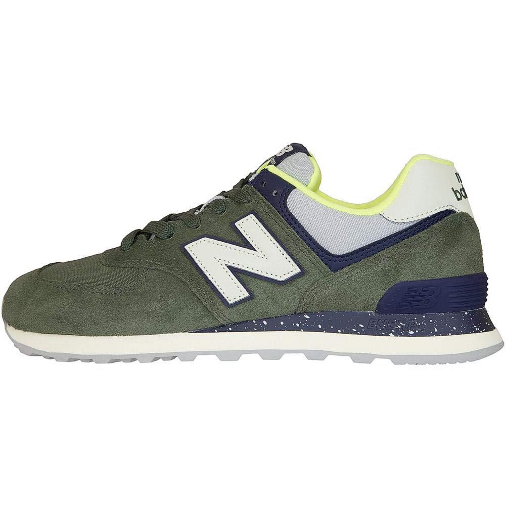 7c6c81cc0d6926 New Balance e NB Sneaker 574 Leder Textil Synthetik grün 43  Amazon.de   Bekleidung