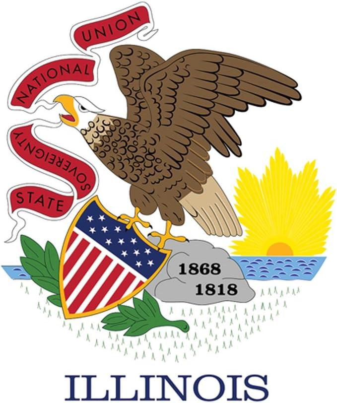 Toland Home Garden 1010316 Illinois State Flag 28 x 40 Inch Decorative, House 28