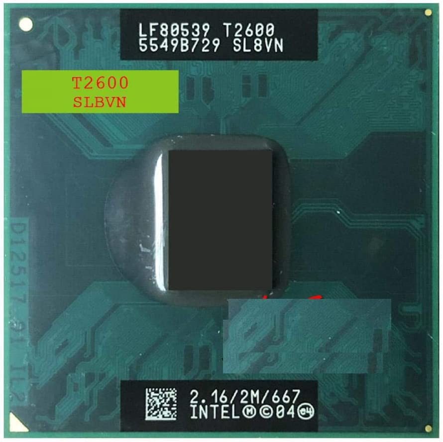 Intel Core Duo T2600 SL8VN SL9JN 2.1 GHz Dual-Core Dual-Thread CPU Processor 2M 31W Socket M MPGA478MT