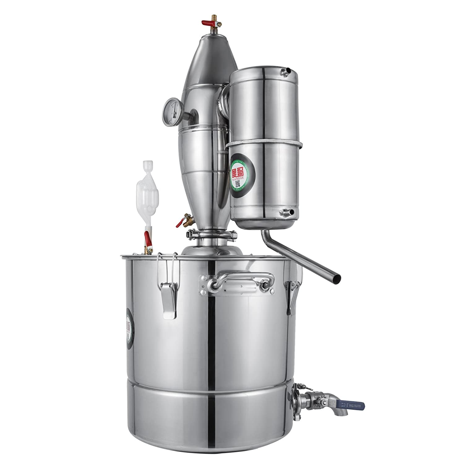 VEVOR 30L 7.9Gal Water Alcohol Distiller 304 Stainless Steel Alcohol Distiller
