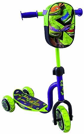 Turtles OTOR005 - Patinete de 3 ruedas con mochila en el manillar, diseño de Tortugas Ninja