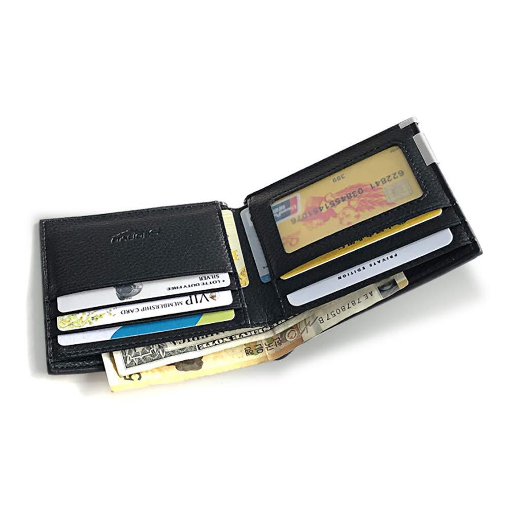 dna18729nd Retro Faux Leather Durable Solid Color Folded Men Wallet Card Cash Holder Money Bag GIF Black