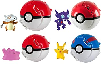 Rocco Juguetes T18873 – Pokemon Throw n Pop Poké Ball, 1 unidad [Personajes Surtidos]