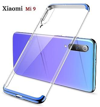 ZSCHAO Funda Xiaomi Mi 9 Transparente 360 Grados Slim Ultrafina Antigolpes +Cristal Templado Carcasa Funda Carcasa Xiaomi Mi9 rigida Dura Libro 3 en 1 ...