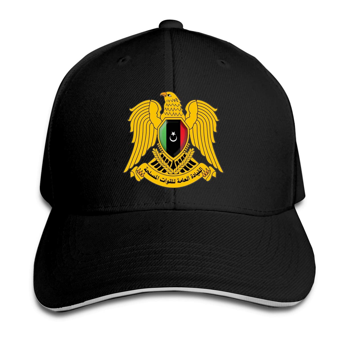Coat of Arms Libya Classic Adjustable Cotton Baseball Caps Trucker Driver Hat Outdoor Cap Black