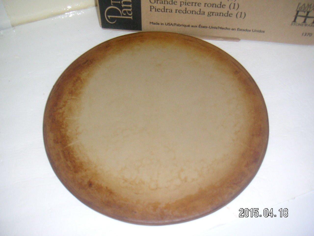 Pampered Chef 15'' Large Flat Pizza Stoneware