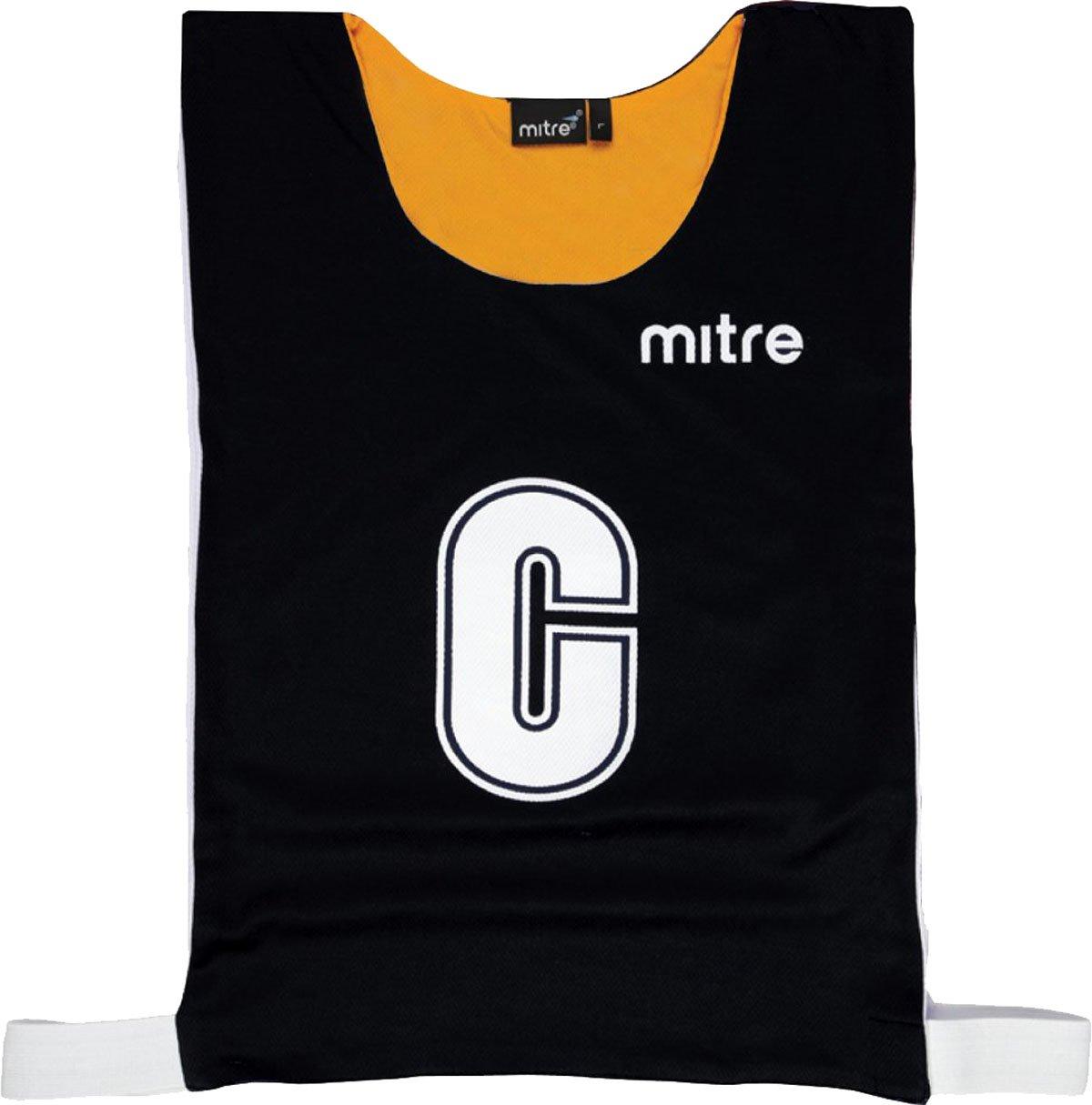 Mitre Pro NetballスポーツチームアクティブウェアリバーシブルポリエステルBibsのセット7 B01CSU05KOSKY/Nvy Large