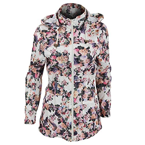 Brave Soul Womens/Ladies Rave Floral Showerproof Full Zip Jacket (16 US) (Floral)