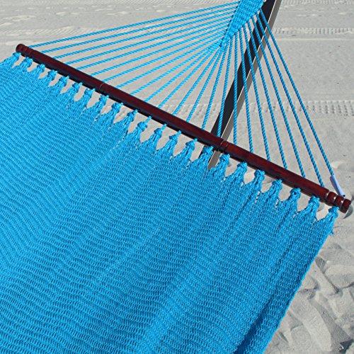 Double Caribbean Hammock - 48 inch - soft-spun polyester - light blue by Caribbean Hammocks