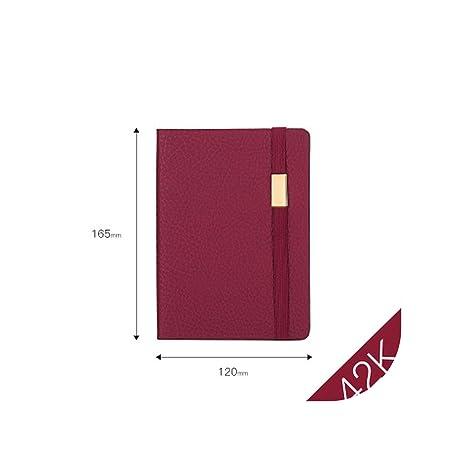 Amazon.com: Agenda de oficina de color rojo vino, cubierta ...