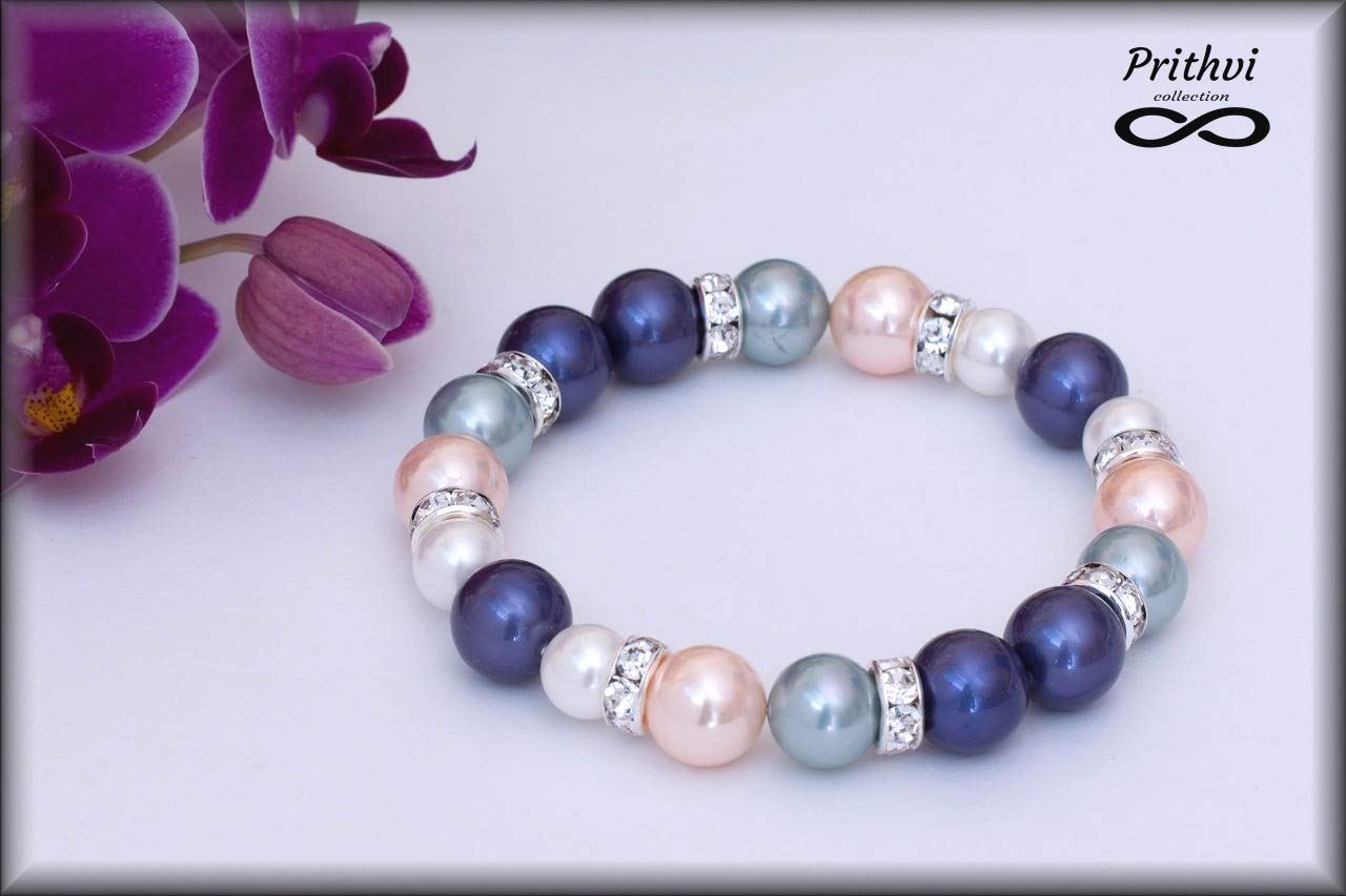 Elegante pulsera para mujer - Perlas de río (8mm, 10mm)