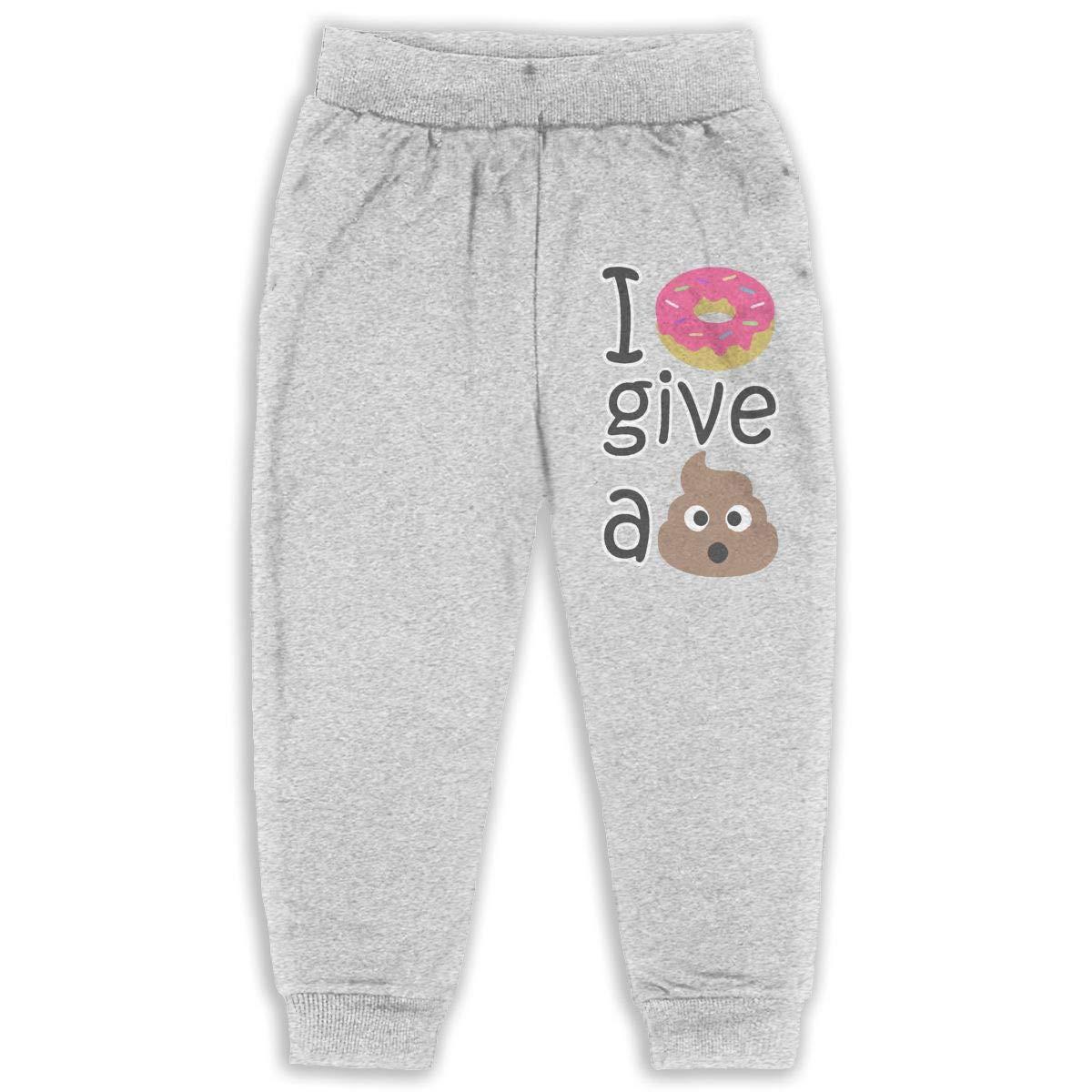 I Donut Give A Shit Sweatpants for Boys /& Girls Fleece Active Joggers Elastic Pants