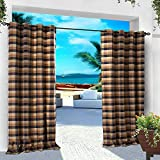 COFTY Indoor/Outdoor Curtains and Drapes Eco-friendly For Patio| Porch| Gazebo| Pergola | Cabana | dock| beach home - Nickle Grommet - Chocolate Black - 84Wx102L Inch (1 Panel)