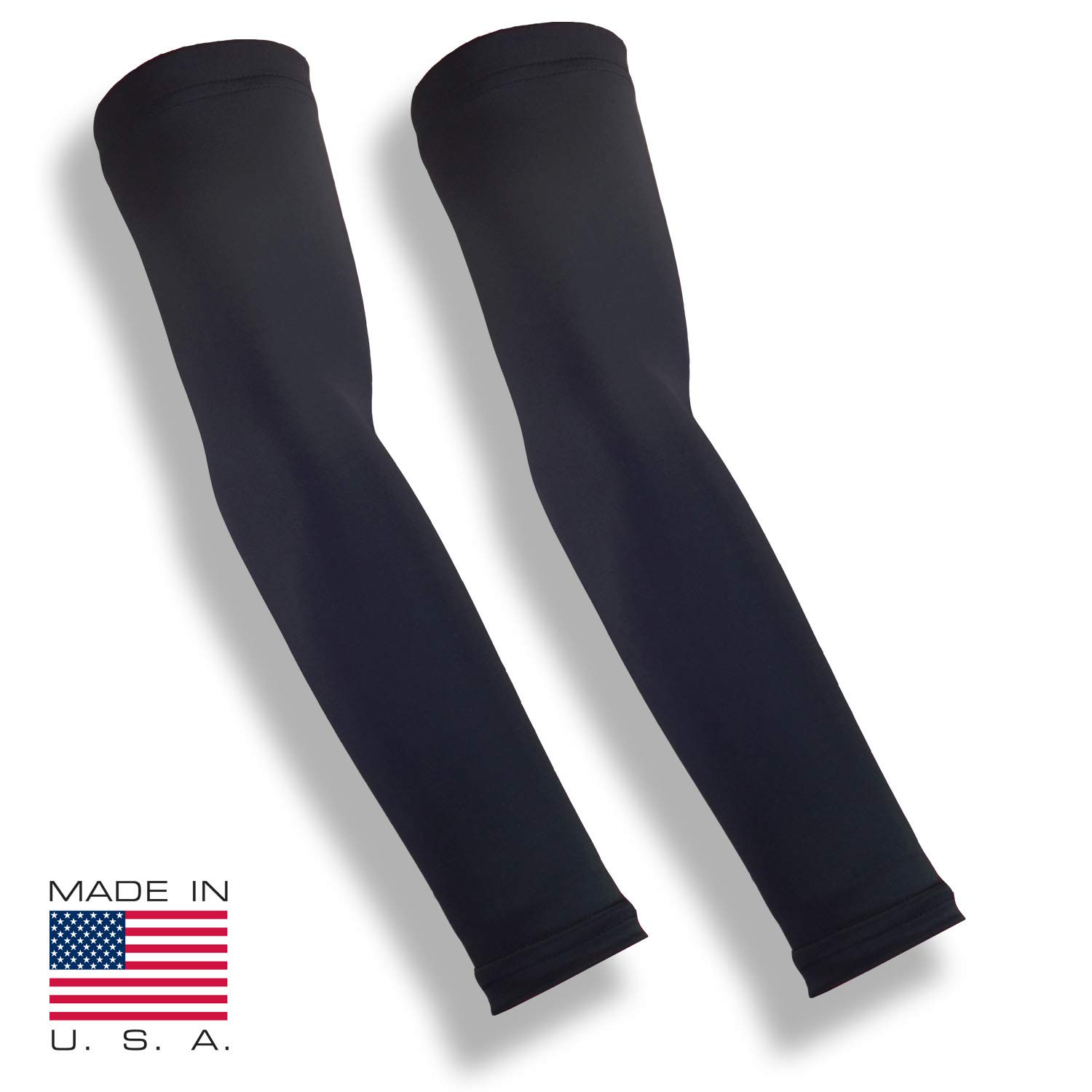 iM Sports Breakaway Cycling Arm Sleeves - Black - Medium/Large - Pair