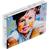 4x6 Inches Acrylic Magnetic Picture Frames for Tabletop Clear by Combination of Life