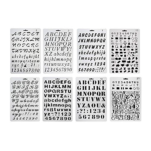 Plastic Number and Letter Stencils Templates Set for