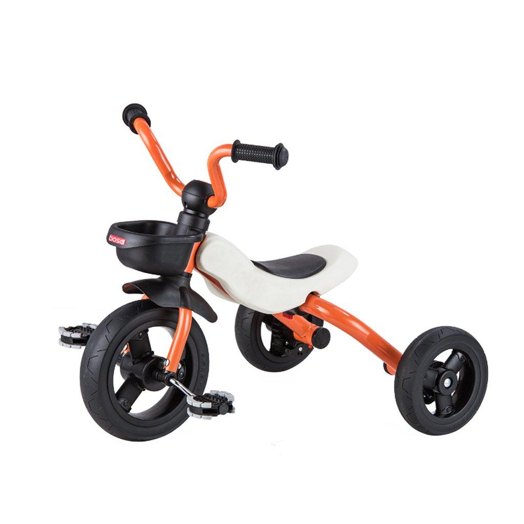 子供の三輪車バイク2 – 6 Years Old Baby Folding Bike Baby Stroller、レッド、オレンジ、ピンク、シアン634553 CM B07CG71TF1オレンジ