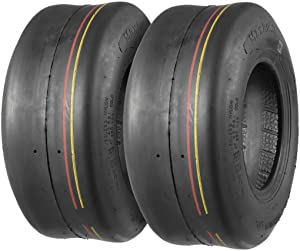 Set of 2 13X5.00-6 13/5-6 13-5-6 Turf Tires 4Ply Tubeless for Lawn Tractor Turf Saver