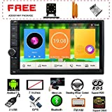 New UI in Dash 7 Inch Touch Screen Double Din Android 7.1 Quad Core CPU Car Stereo GPS Navigation WiFi Bluetooth Car Headunit Car Radio Audio System with Free Real Camera and Tuning Tools Package For Sale