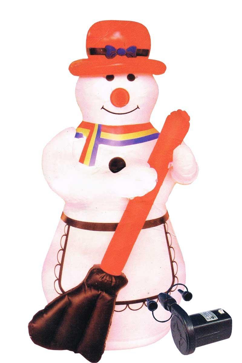 Forma de Muñeco de nieve hinchable con 3 M manguera de luz ...