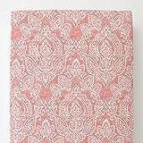 Carousel Designs Light Coral Vintage Damask Toddler Bed Sheet Fitted