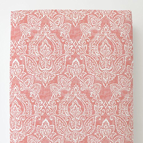 Carousel Designs Light Coral Vintage Damask Toddler Bed Sheet Fitted by Carousel Designs