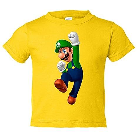 Camiseta niño Super Mario Luigi - Amarillo, 3-4 años