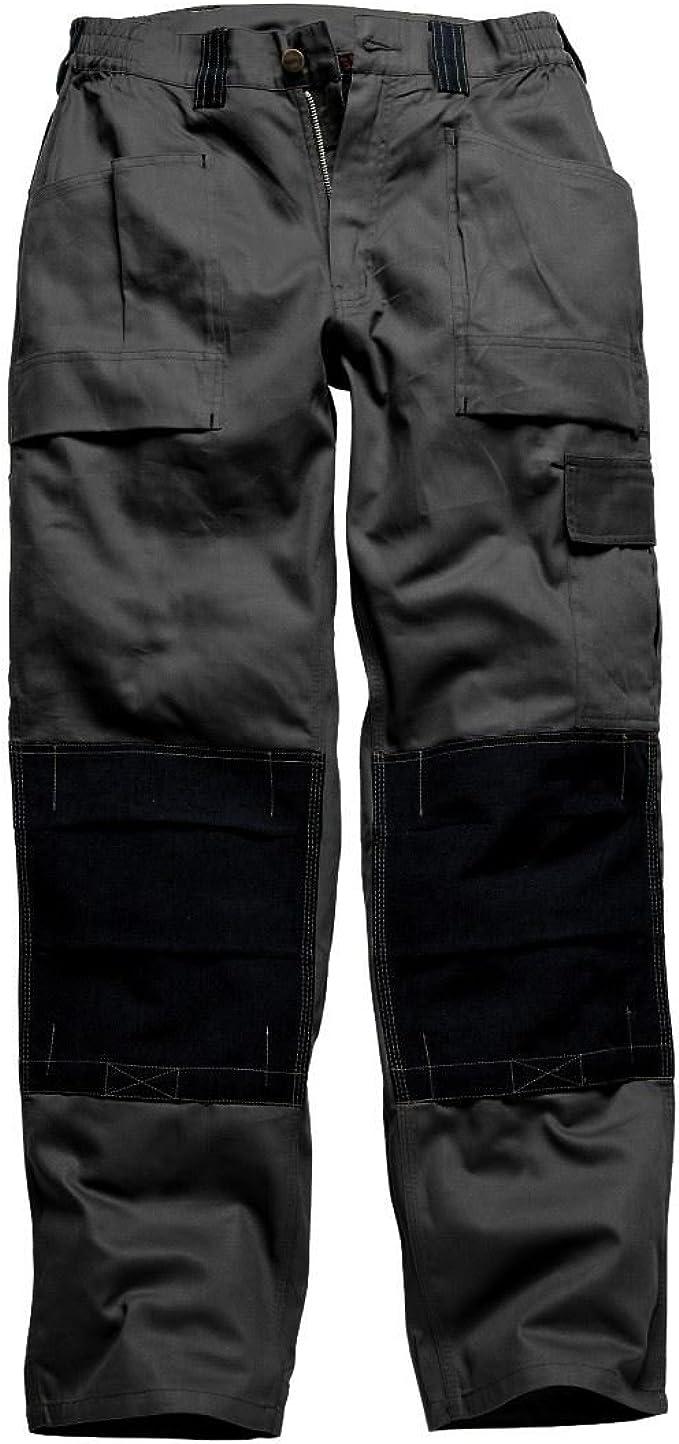 Grey Dickies Grafter Duo Tone Trousers Cordura Knee Pad Work Pants