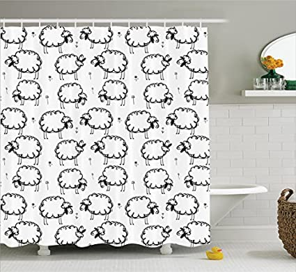 Image Unavailable Not Available For Color TownLights Sheep Shower Curtain
