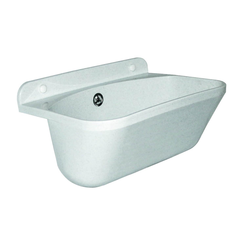 Stabilo-Sanitaer Kunststoff Ausgussbecken 460 x 360 x 200 mm 46x36x20cm Eko 20l Waschbecken Spü lbecken weiß er Granit