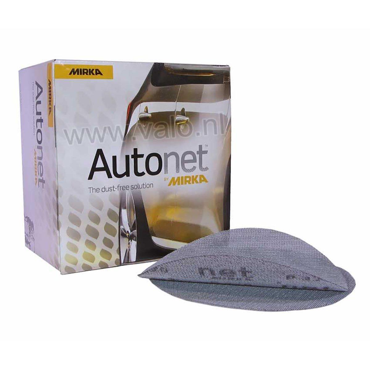 Mirka Autonet 400 Grit Wet/Dry Hook and Loop Mesh Sanding Discs - 50 Pack - Long Life Aluminum Oxide Disc - Dust-Free - Automotive or Woodworking