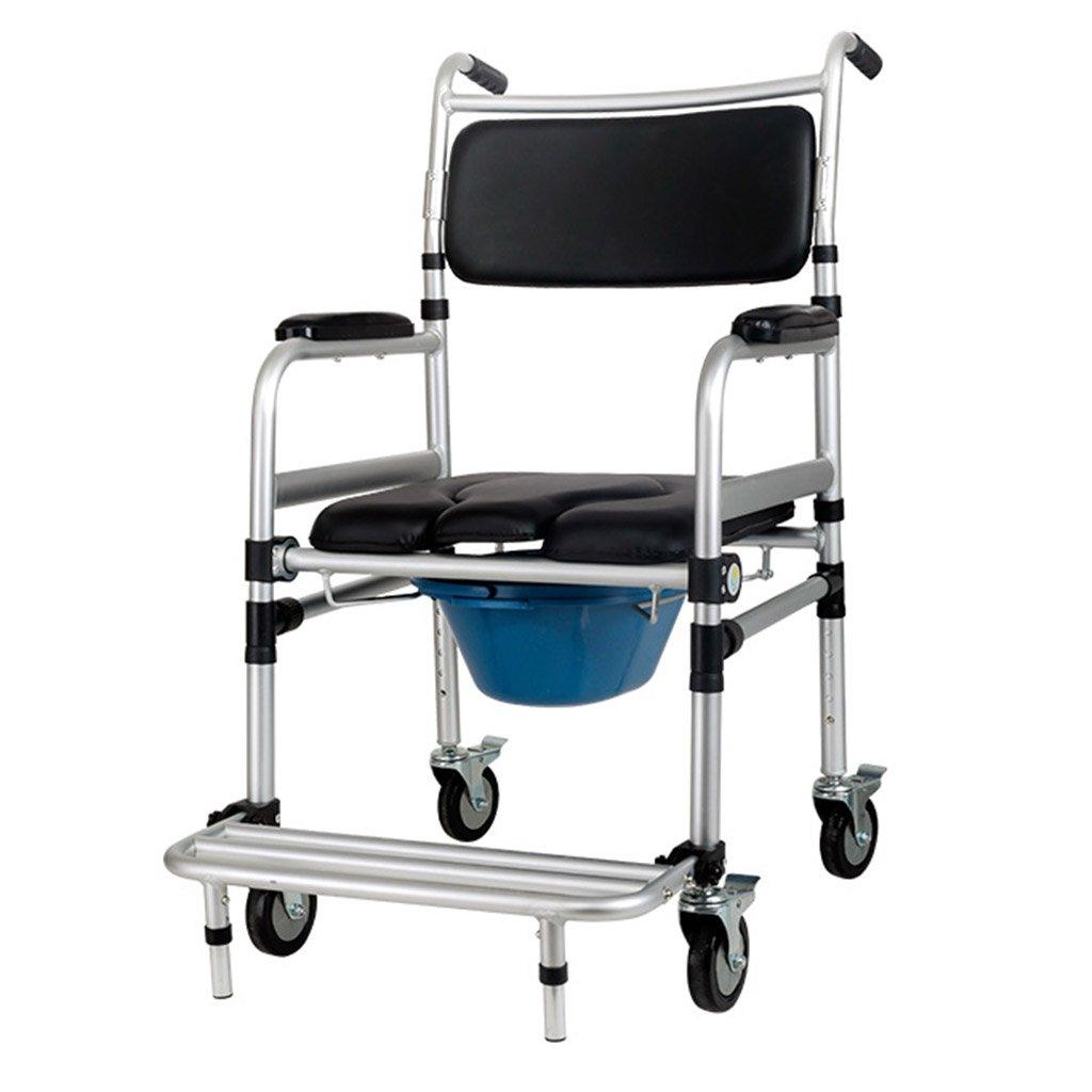 WSSF- シャワーチェア 高齢者プーリーポーチ座席椅子背もたれ付きアームレスト折りたたみ式障害妊娠中の女性入浴スツールバスルームスウォッチトイレシャワーチェア B07BFV44G3