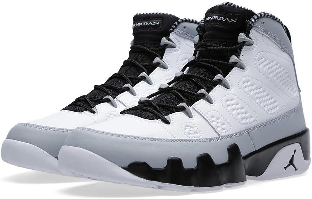 Jordan Air 9 Retro Birmingham Barons Men's Basketball Shoes White/Black-Wolf Grey 302370-106