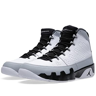7d19cfe7fe0628 Jordan Air 9 Retro Birmingham Barons Men s Basketball Shoes  White Black-Wolf Grey 302370